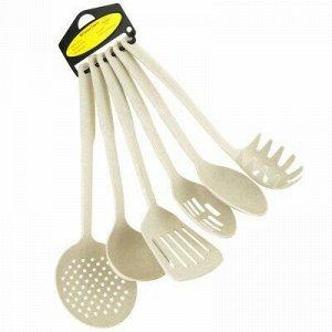 Кухонный набор для тефлоновой посуды пластмассовый 6 предмет