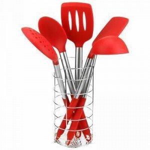Кухонный набор для тефлоновой посуды силиконовый с ручками и