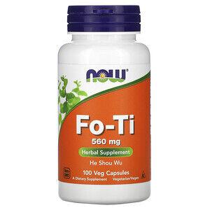 Now Foods, Fo-Ti, He Shou Wu, горец многоцветковый 560 мг, 100 растительных капсул