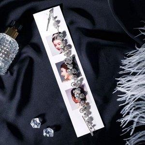 "Аксессуар для волос ""Лючия"" капельки 27 см, серебро"