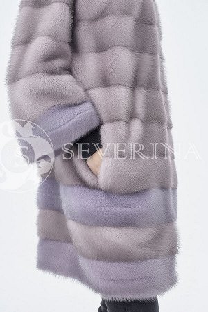 Шуба из норки лаванда-фиолет