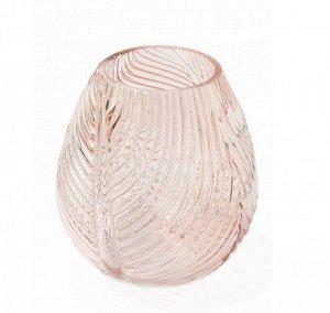 """Ваза """"Barley"""" Floox, 10х10х20 см, цв.розовый, стекло"""