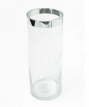 """Ваза """"Compton"""" Floox, 12х12х30,5 см, цв.прозрачный, стекло"""