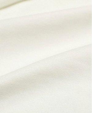 БРАК (цена снижена) Микровельвет цв.Белый, 1.45 м, хлопок-100%.