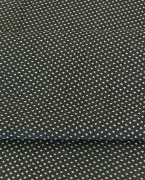 БРАК цена снижена Микровельвет Мелкие крестики на зеленом, ш.1,07 м