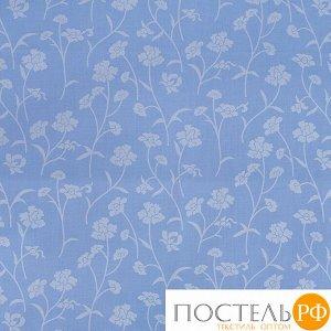 Наперник Тик кант молния 215 Ромашки цвет голубой серебро 60/60