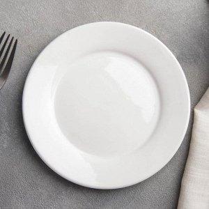 Тарелка пирожковая с утолщённым краем White Label, d=15 см, цвет белый