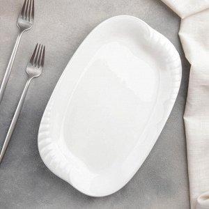 Блюдо прямоугольное White Labe, 29,5?18,5?3 см, цвет белый