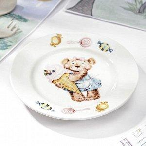 Тарелка мелкая «Медвежата», d=17,5 см