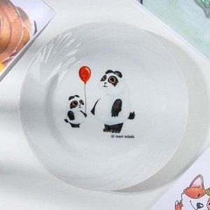 Набор посуды Добрушский фарфоровый завод «Панда», 3 предмета: кружка 200 мл, салатник 360 мл, тарелка мелкая d=17 см