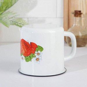 Кружка эмалированная «Цветок» 1 л, цвет МИКС