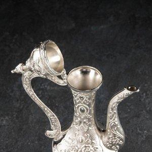 Набор сервировочный «Роскошь. Серебро», 8 шт: поднос, кувшин, 6 рюмок
