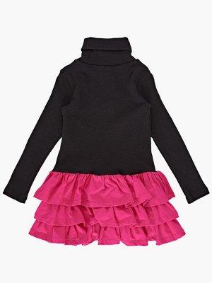 *Платье (98-122см) UD 6079(2)черн/малина