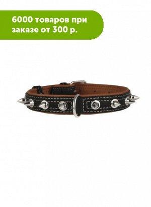 Ошейник WAUDOG Soft с шипами ширина 35мм, длина 46-60см черный