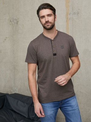 Фуфайка (футболка) муж BeGood SS21MJ225A Safari коричневый меланж