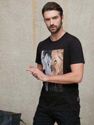 Фуфайка (футболка) муж BeGood SS21MJ232 Safari черный