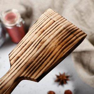 """Лопатка деревянная """"Люкс"""", 23х7 см, массив ясеня"""