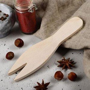 """Лопатка для салата деревянная """"Люкс"""", 20х5 см, массив бука"""