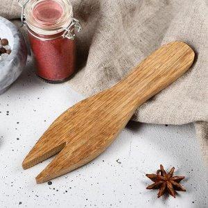 """Лопатка для салата деревянная """"Люкс"""", 20х5 см, массив дуба"""