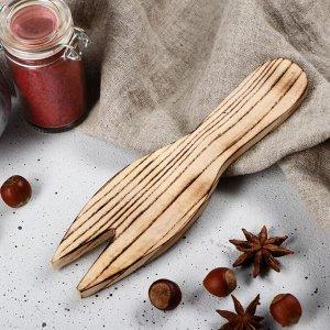 """Лопатка для салата деревянная """"Люкс"""", 20х5 см, массив ясеня"""