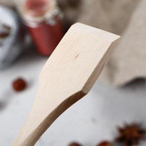 Ложка-лопатка деревянная, 16х4 см, массив бука