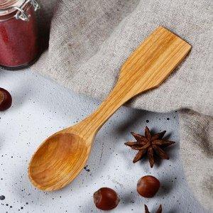 Ложка-лопатка деревянная, 16х4 см, массив черешни
