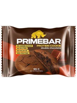 Печенье PRIMEBAR двойной шоколад, 55 г
