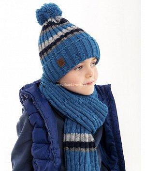 Q 122 D 122 флис (50-54) (колпак+шарф) Комплект