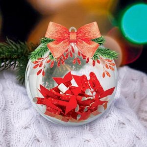 Набор для творчества. Ёлочный шар «Чудесного Нового года» с пожеланиями