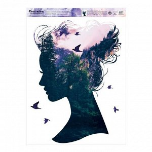 Наклейка виниловая «Силуэт». интерьерная. 50 х 70 см