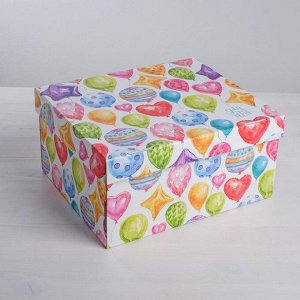 Складная коробка «Яркие шары», 31 х 25,5 х 16 см