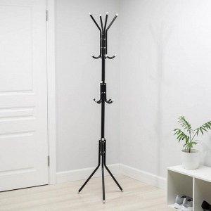 Вешалка-стойка «Тюльпан», 60?18?170 см, цвет чёрный