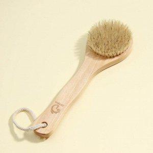 Щётка банная с ручкой Доляна, натуральная щетина