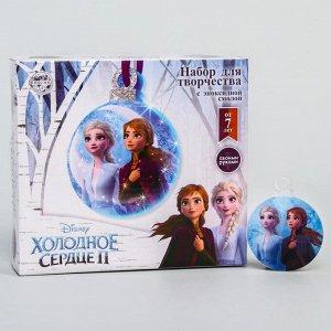 """Застывающие фигурки из эпоксидной смолы """"Эльза и Анна"""", Елочная игрушка, Холодное Сердце"""