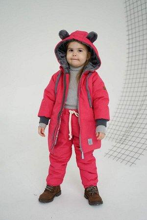 Пальто зима Мишка Pink скидка