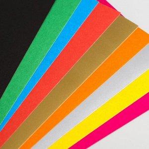 Набор: цветной картон А5, 10 л., 220 г/м2 + цветная двусторонняя бумага А5, 16 л., 48 г/м2, СМЕШАРИКИ