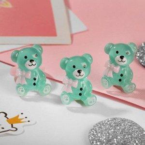 """Набор детский """"Выбражулька"""" 2 пред-та: клипсы, кольцо, медвежата, цвет МИКС"""