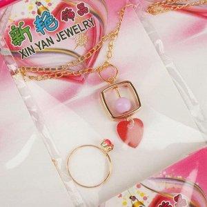 """Набор детский из 20 наборов """"Ассорти"""" декор, 2 предмета: кулон, кольцо, форма МИКС, цвет МИКС"""