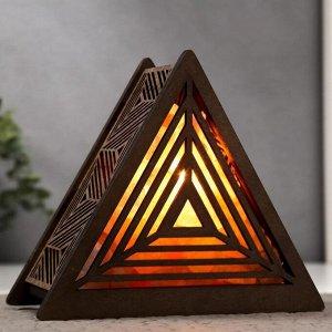 """Соляной светильник с диммером """"Пирамида"""" Е14  15Вт  1.5кг гимал.соль 17х19х7см"""