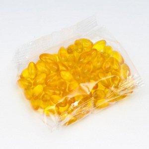 Омега-3, льняное масло с витамином Е, 100 капс по 350 мг