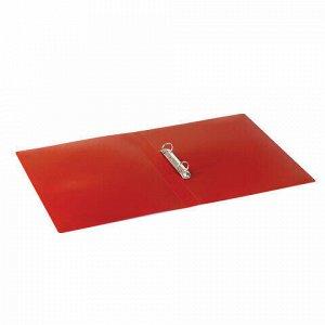 Папка на 2 кольцах STAFF, 21 мм, красная, до 170 листов, 0,5 мм, 225718