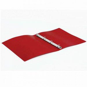 Папка на 4 кольцах STAFF, 25 мм, красная, до 170 листов, 0,5 мм, 225726