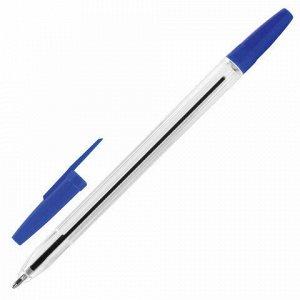 Ручка шариковая STAFF C-51, СИНЯЯ, корпус прозрачный, узел 1 мм, линия письма 0,5 мм, 142812