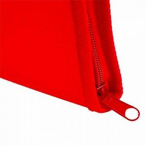 Папка для тетрадей А4 ПИФАГОР, пластик, молния вокруг, один тон, красная, 228217
