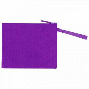 """Папка для тетрадей BRAUBERG, А5, 1 отделение, ткань, молния сверху, """"Flamingo"""", 229411"""