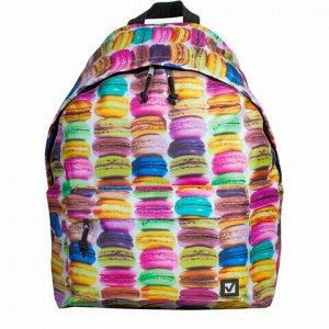 Рюкзак BRAUBERG, универсальный, сити-формат, разноцветный, Сладости, 20 литров, 41х32х14 см, 225370