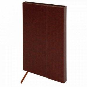 """Ежедневник недатированный А5 (148х218 мм), GALANT """"Magnetic"""", кожзам, магнитный клапан, 160 л., коричневый, 111880"""