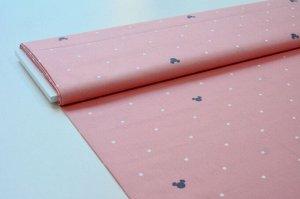 Ткань сатин - Микки на розовом фоне 0,5*1,6м