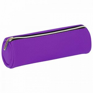 "Пенал-косметичка BRAUBERG под фактурную кожу, ассорти 4 цвета, ""Экзотика"", 20х6х6 см, дисплей, 224041"