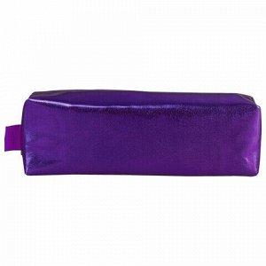 """Пенал-косметичка BRAUBERG под искусственную кожу, """"Винтаж"""", фиолетовый, 20х6х4 см, 226716"""
